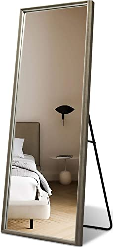 Niccy Full Length Mirror,Full Length Standing Mirror PS Frame Floor Mirror Easy-to-Install Body Mirror Hanging Wall,65×22