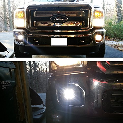 iJDMTOY Complete 40W High Power CREE LED Fog Light Kit w/ Fog Lamp Location Mounting Brackets For 1999-2016 Ford F-250 F-350 F-450 Super Duty by iJDMTOY (Image #6)