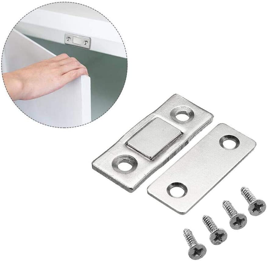KyStudio 5 Sets Strong Magnetic Door Closer Cabinet Catch Latch Cupboard Ultra Thin Closer Lock