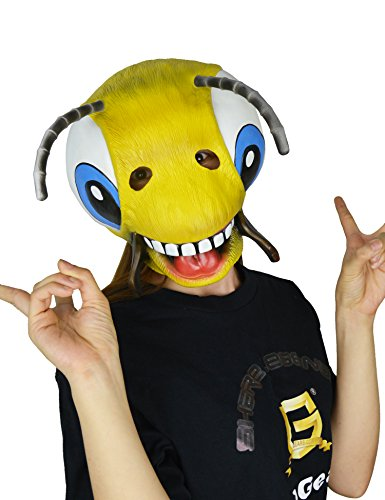 LarpGears Halloween Costume Party Latex Animal Mask Cute Bee Mask Child and Teen Size ()