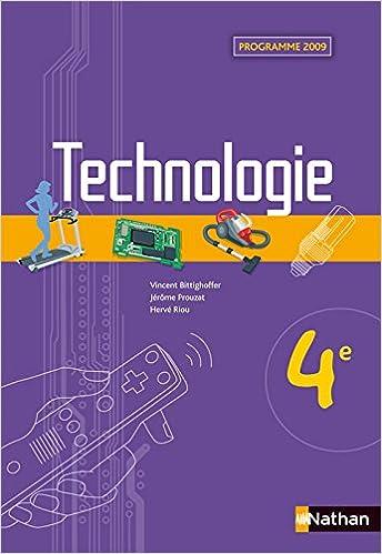 Livre gratuits en ligne Technologie - 4e pdf