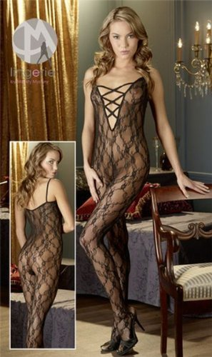 3e488a7542 Image Unavailable. Image not available for. Color  Mandy Mystery line  Women s Plus Size Lace Crotchless Bodystocking ...