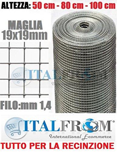 25mt-rotolo Netz metallica-mini verzinkt–Trikot: MM19X 19–Draht: mm1,4–H 100cm