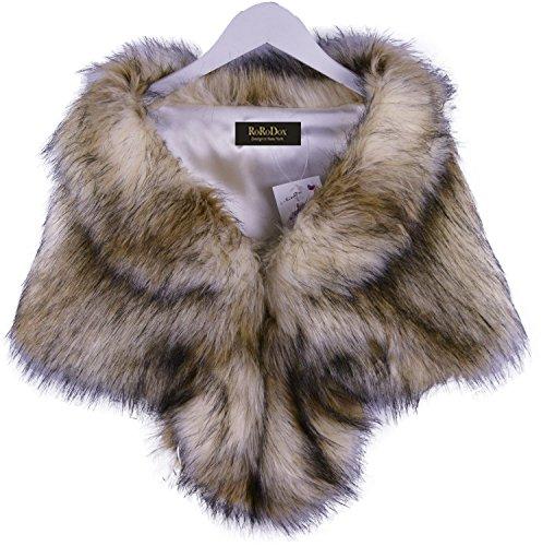 RoRoDox Warm Faux Fur Wedding Shawl Perfect for