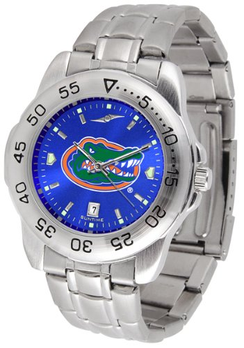 NCAA Florida Gators Men's Anochrome Sport Watch with Stainless Steel Band