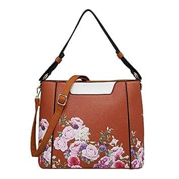 cacf22da5a Haute For Diva Ladies Floral Print Tote Bag Brown  Amazon.co.uk  Luggage