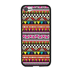 Aztec Tribal Print Iphone 5c Case Cover - Colorful Personalized Geometric Triangle Indian Tribe Cell Phone Back Protective Cover Shell for Girls