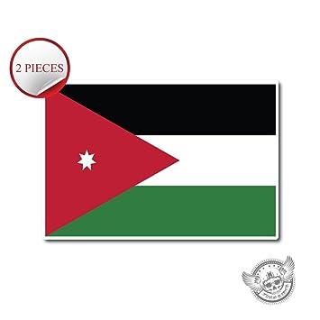 10422 jordan flag 2 pieces vinyl wall home decor car window bumper decal 3quot