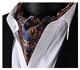 SetSense Mens Ascot Floral Paisley Jacquard Woven Cravat Tie
