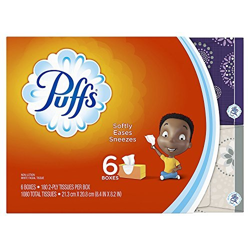 (Puffs Everyday Basic Facial Tissues - 180 ct - 6 Pack (Packaging May Vary))