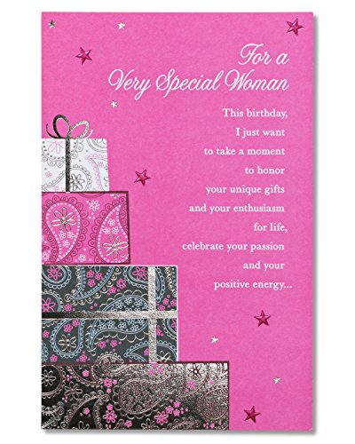 Womens Birthday Card (American Greetings Very Special Woman Birthday Card for Her with)