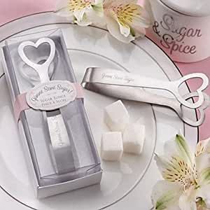 QINF Game Some Sugar! Stainless-Steel Heart-Themed Sugar Tongs