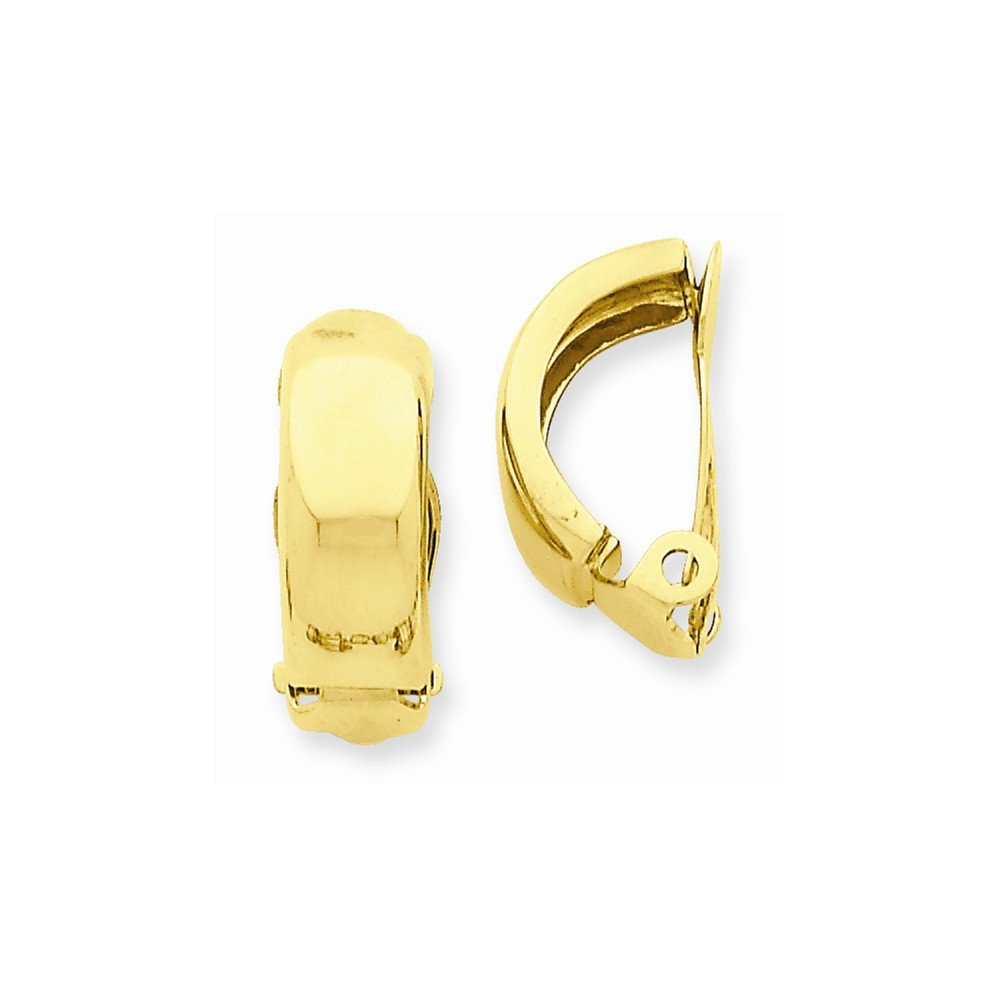 14k Yellow Gold Clip On Non Pierced Polished Earrings