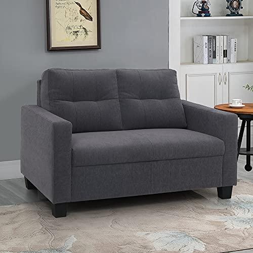 Duroflex Ease Fabric Sofa  Grey, 2 Seater