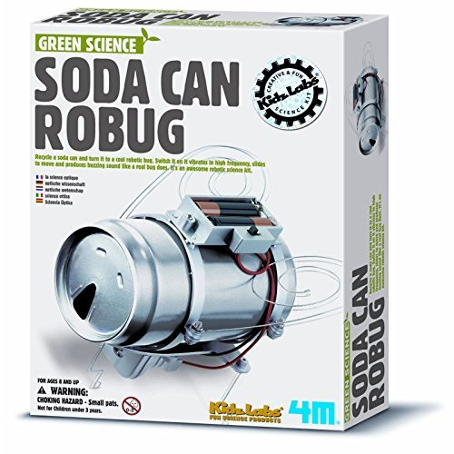 Great Gizmos KidzLabs Fun Green Science Soda Can Robug by Young (Green Science Soda)