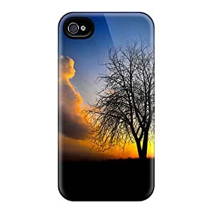 Anti-scratch And Shatterproof Lone Tree Phone Case For Iphone 4/4s/ High Quality Tpu Case