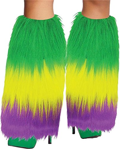 Price comparison product image Mardi Gras Furry Leg Warmers