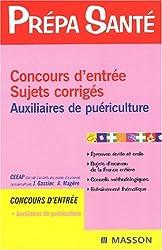 Sujets et corrigés : Concours d'entrée auxiliaires de puériculture