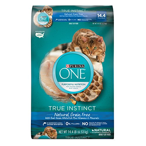 Purina ONE True Instinct Natural Grain-Free With Ocean Whitefish Adult Dry Cat Food - 14.4 lb. Bag