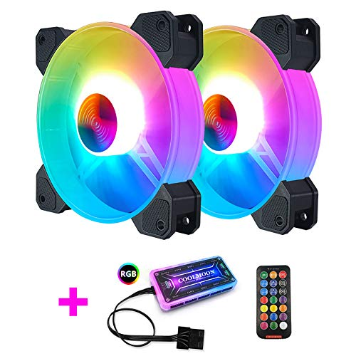 Cool Fan Month Jade Bracelet RGB Case Fan 12cm Desktop PC Heat Dissipation Fan Symphony Color Changing Eclipse Mute