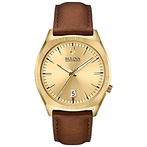 (Bulova 97B132 Men's Accutron II Analog Display Quartz Watch, Brown Leather Band, 41mm Case)