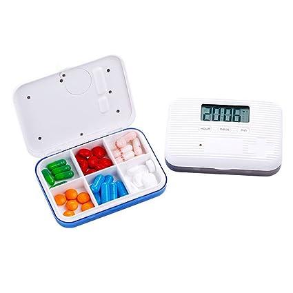Dispensador Automático De Pastillas, Alarma 5 Veces Al Día, Mini Pastillero Portátil Inteligente Para
