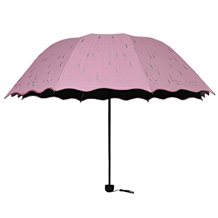 BOZEVON Paraguas Plegable-Paraguas de Viaje, contra Viento, Clásico, Tela Impermeable,