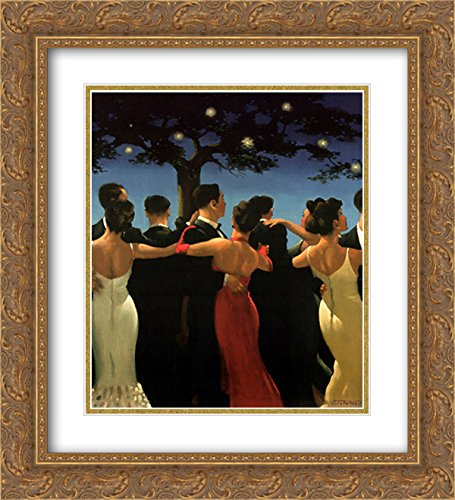 - Waltzers 2X Matted 20x24 Gold Ornate Framed Art Print by Jack Vettriano