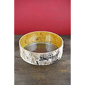 """Birch Bark Wrapped Glass 10"""" Bowl - Excellent Home Decor - Outdoor Indoor 36"""