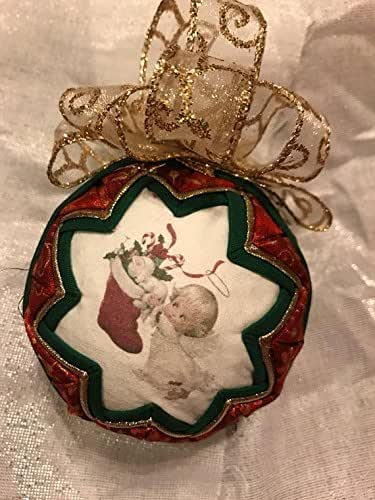 Amazon.com: Christmas Angel fabric quilted ornament-SALE ...