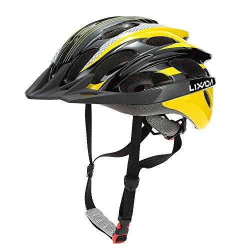Lixada Bike Helmet Adult 25 Vents Ultralight Adjustable Cycling Bicycle Helmets for Mountain Road Bike Racing Skateboarding Roller Skating Safety Protection