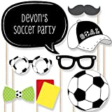 Custom GOAAAL! - Soccer Photo Booth Props Kit - Soccer Party Supplies for a Personalized Birthday Party or Baby Shower - 20 Selfie Props