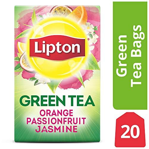 Lipton Green Tea Bags, Orange Passionfruit Jasmine, 20 ct