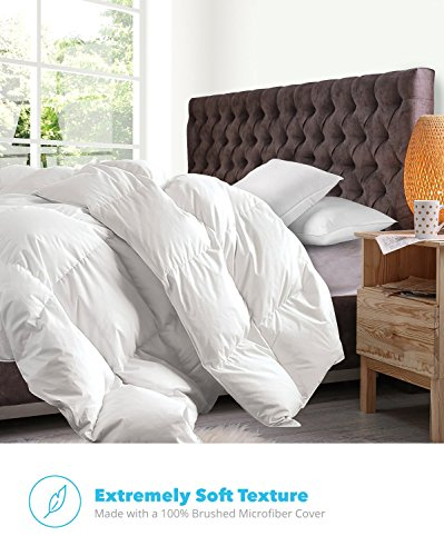 Equinox All-Season White Quilted Comforter - Goose Down Alternative Queen Comforter - Duvet Insert Set - Machine Washable - Hypoallergenic - Plush Microfiber Fill (350 GSM) - bedroomdesign.us