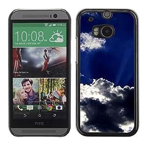 Be Good Phone Accessory // Dura Cáscara cubierta Protectora Caso Carcasa Funda de Protección para HTC One M8 // Sun Clouds God Inspiring Sky Summer