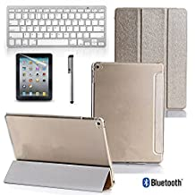 Bluetooth Keyboard With Smart Case Stand &Stylus Pen for Apple iPad Air1/ 2