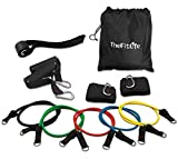 Cheap Exercise Workout Resistance Band Set – Training Tubes Door Anchor, Handles, Ankle Straps, Stackable up to 100 lbs Fitness, Strength, Baseball, Softball, Home Gym, Yoga (Resistance Band Set)