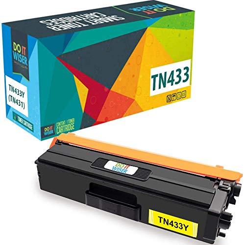 Do it Wiser Compatible Toner Cartridge Replacement for TN433Y TN-433Y TN431Y Brother MFC L8900CDW HL-L8360CDW L8260CDW MFC-L8610CDW L9570CDW HL-L9310CDW (4,000 Pages) Yellow