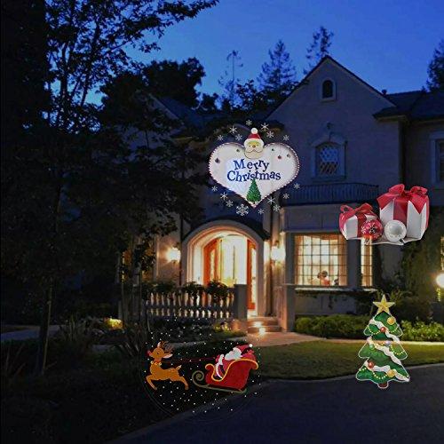 Bright Led Christmas Lights.Hottly Led Christmas Light Projector 2017 Newest Version Bright Led Landscape Spotlight With 16 Slides Dynamic Lighting Landscape Led Projector
