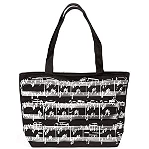 Black Music Staff Carry All Tote Bag