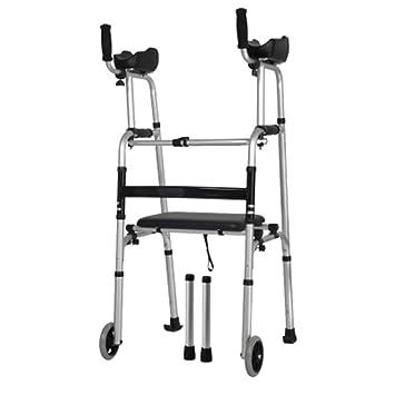 Amazon.com: XRX - Carretilla para ancianos con soporte para ...