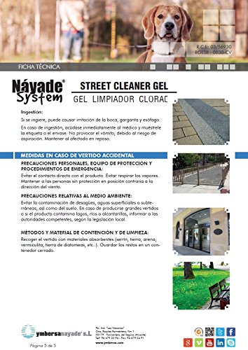 YMBERSA Náyade System Street Cleaner Gel Limpiador Gel Clorado. 1 Lt ...