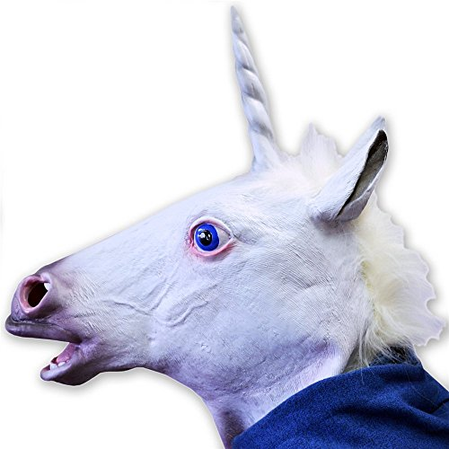 Youareking® Halloween Creepy Adult Unicorn head latex Rubber Mask - Fancy Dress for $<!--$15.00-->