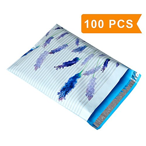 10x13 Purple Lavender Designer Poly Mailers Shipping Envelopes Boutique Custom Bags with Self-Adhesive, Waterproof and Tear - proof Postal Bags (100 (Print Self Adhesive Packing)