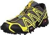 best service 66a58 e4f7b Salomon Men s Speedcross 3 Trail Running ... hoe, Black Canary Yellow Autobahn,  8.5 M US