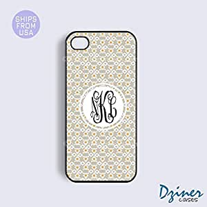 Monogrammed iPhone 5c Case - Sliver White Pattern iPhone Cover by icecream design