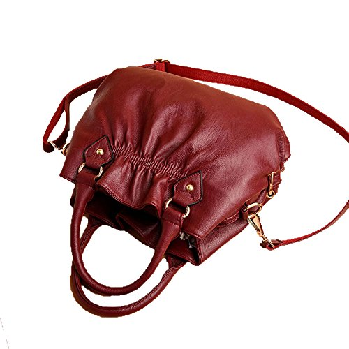 Lady Bag Handbags 2018 Multilayer Four Handbag Soft Fashion Bag Leather Europe New Big Zm Shoulder Gray Seasons And Bag America z8Wqd5Uwx