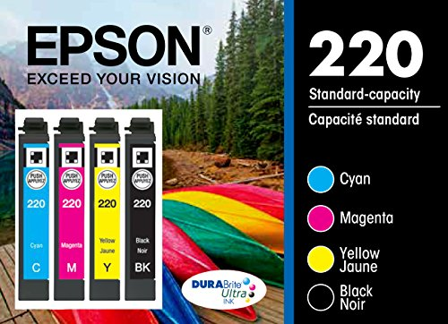 Epson T220120-BCS DURABrite Ultra Color Multi-Pack Ink Cartridges Standard-Capacity (CMYK) - Frustration Free Packaging Ink by Epson