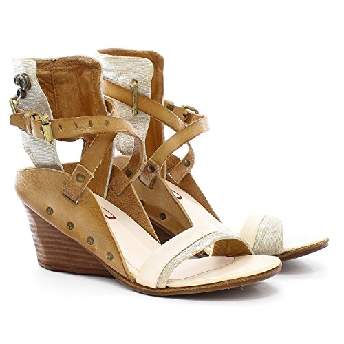 A.S.98 kokka - Sandalias de vestir para mujer Blanco blanco Bianco