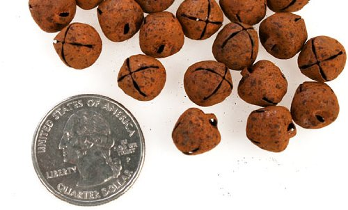 Package of Grungy Rusty Jingle Bells for Holiday Embellishing and Crafting- 100 Bells